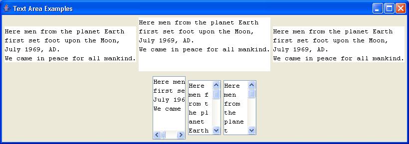 TextArea Example