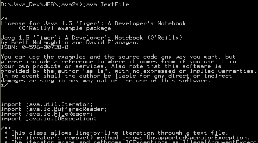 Java for in (forin): line-by-line iteration through a text file