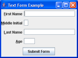 A simple label for field form panel
