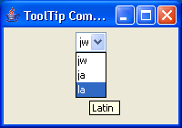 ToolTip ComboBox Example