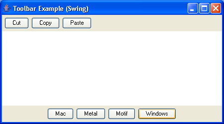 The Swing-ified button example