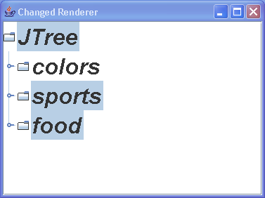 Tree Changed Renderer