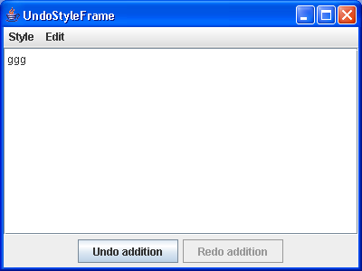 Add undo support to the StyleFrame example