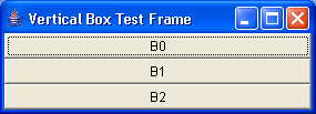 A test of the BoxLayout manager using the Box utility class 3