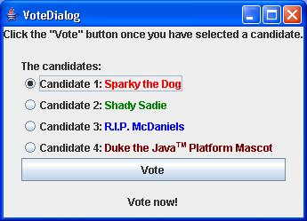 Vote Dialog