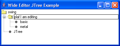 Wide Editor Tree Example