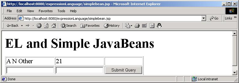 JSP: expression language 2