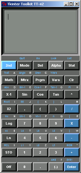 A calculator