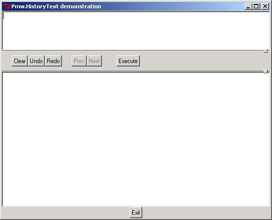 Pmw HistoryText: clear, redo, undo