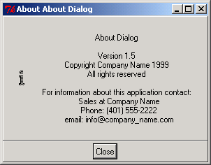 Pmw about dialog