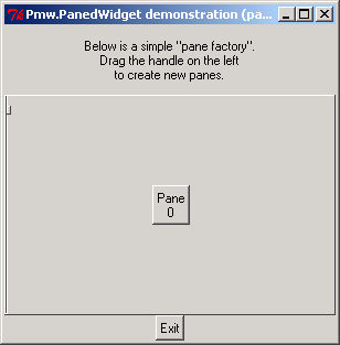 Splitted Pane: Pmw.PanedWidget demonstration (pane factory)