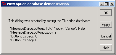 Using Tk option database to configure Pmw megawidgets