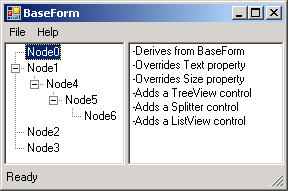 Add components to inherited form