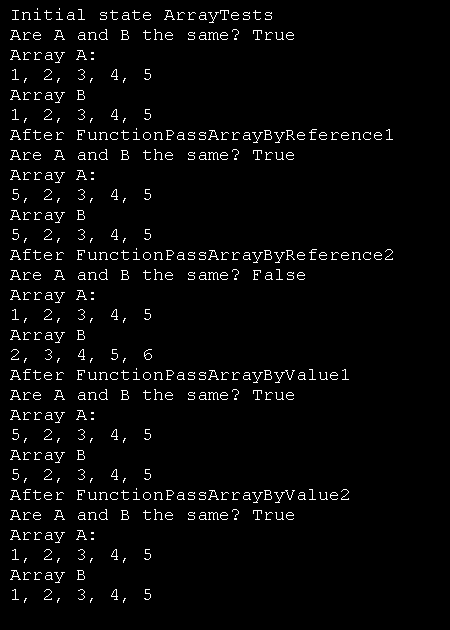 Array parameter passed by Value and by Reference