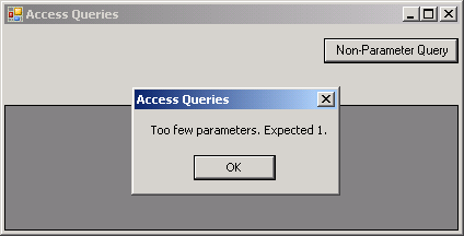 Call Store Procedure in Access Database