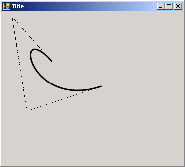 how to draw parabolic curve in java