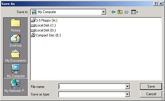 File save dialog