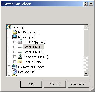 Folder Browser Dialog: set selected folder