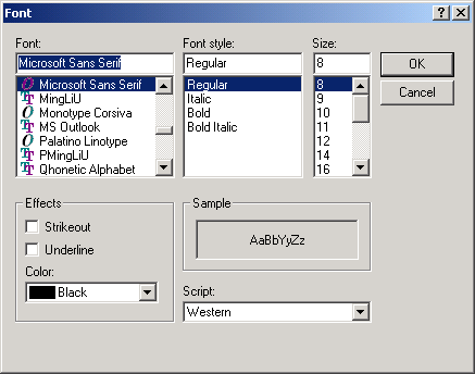Font dialog: turn color option on