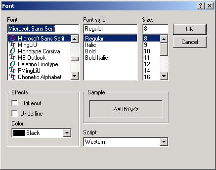 Font dialog: turn color option on