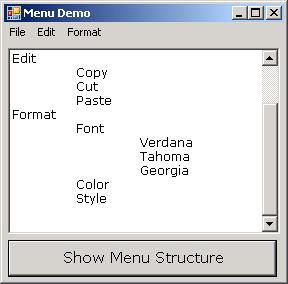 Get Menu Structure