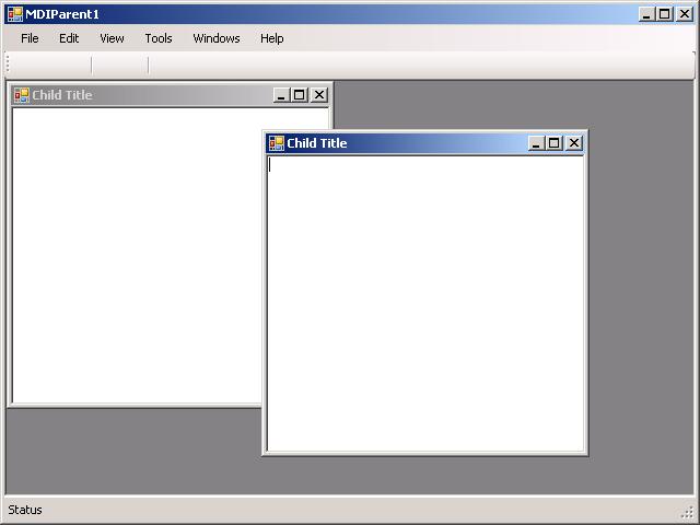 MDI Frame Demo : MDI « GUI « VB.Net