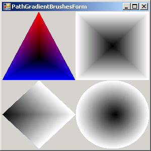 Path Gradient Brushes: Diamond, Rectangle, Cirlce and quad