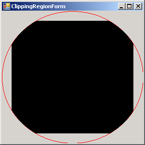Rectangle clipped to Ellipse