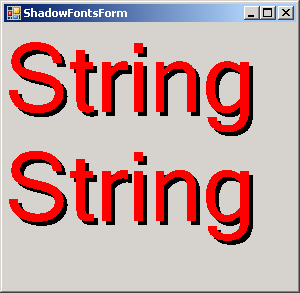 Shadow Fonts Demo