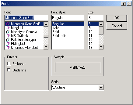 Show Font dialog and get select font and font color