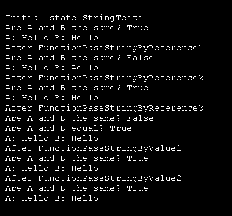 String parameter passed by Value and by Reference