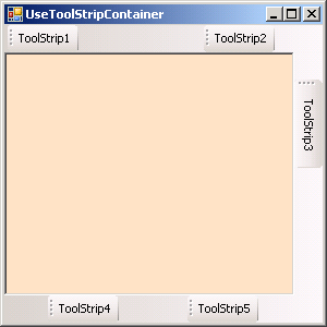 ToolStrip Container Demo