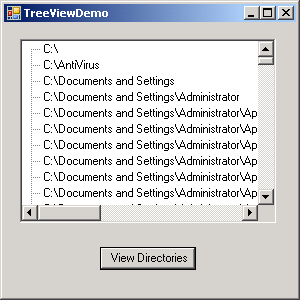 Use Tree View to display directory