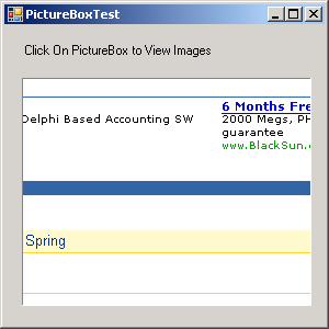 Using a PictureBox to display images