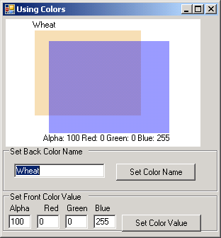 Using different colors in Visual Basic