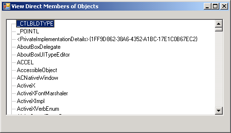 View all Assembly Form Type in a Tree