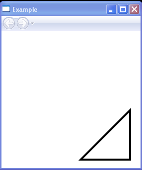 A triangle with a black outline.