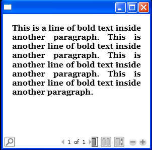 Add Bold line to Paragraph