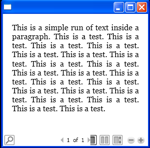 Add Run of text to a Paragraph