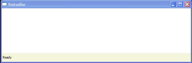 Add TextBlock to Statusbar