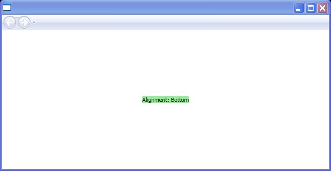 BaselineAlignment: Bottom