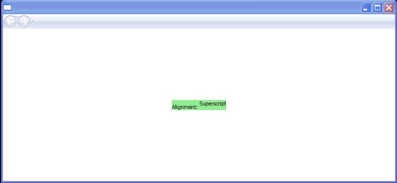 BaselineAlignment: Superscript