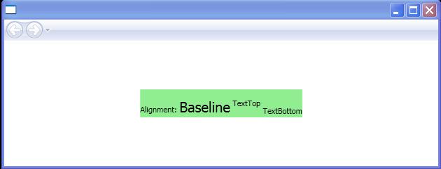 BaselineAlignment: TextBottom