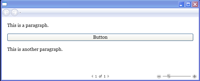 BlockUIContainer with a Button along with Paragraph