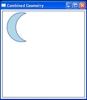 Combine two circles into one shape using CombinedGeometry: Exclude