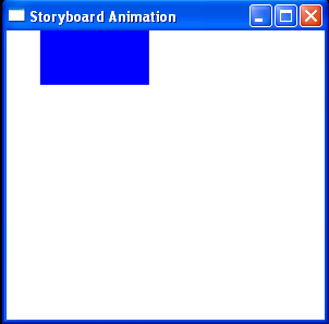 Create an animation using the storyboard