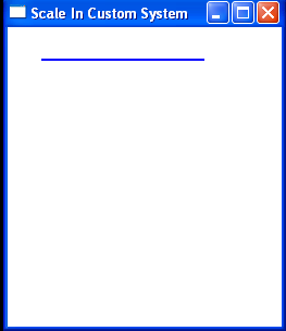 Creates a blue line from point (30, 30) to point (180, 30):