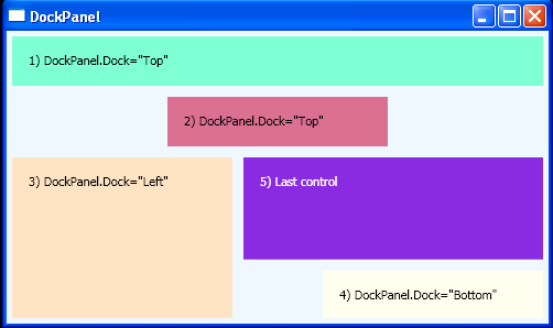 DockPanel with Labels