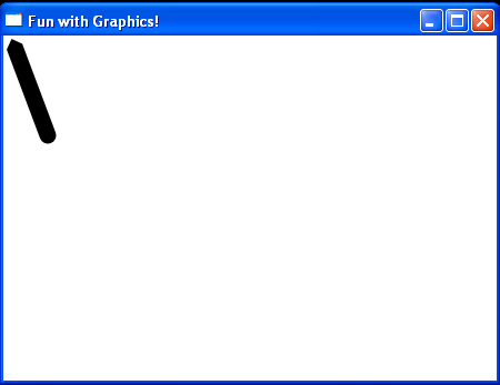 Draws a diagonal line from (10,10) to (40,50)