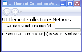 Get Item At Index Position [0]